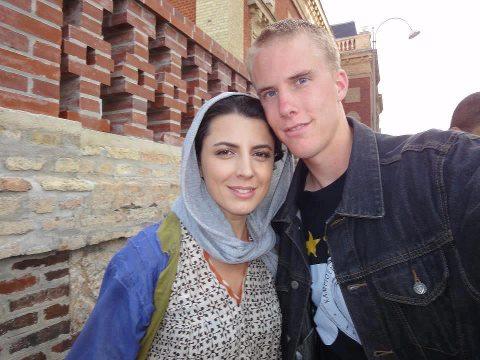 عکس لیلا حاتمی در کنار مرد خارجی